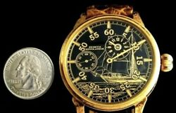 Menand039s Wrist Watch Gold Regulateur With Vintage Movement By Zenith