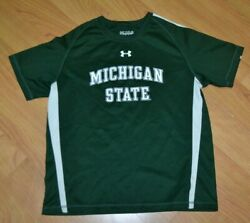 Michigan State Spartans Msu Under Armour Jersey Performance T Shirt Youth Xl