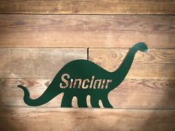 Sinclair Dino Sign Dinosaur Gas Pump Station Oil Can Shell Not Antique Porcelain