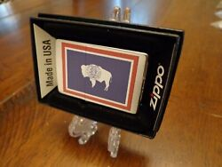 Wyoming State Flag Series Zippo Lighter Mint In Box