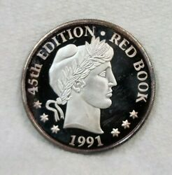 1991 Whitman Coin Products Red Book Racine Wisconsin Silver Round 1 Oz .999