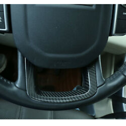 Real Carbon Fiber Steering Wheel Down Cover Trim Fit For Range Rover Sport 2014+