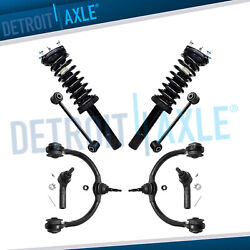 8pc Front Struts Upper Control Arms Kit For 05-10 Jeep Commander Grand Cherokee