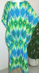CAFTAN LOUNGER quot; Catch a Wavequot; PEPPERMINT BAY OS FITS MOST 100% Indian Cotton