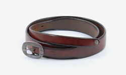 Rare Authentic Goroand039s 925 Silver Lily Buckle Saddle Leather Belts Special Order