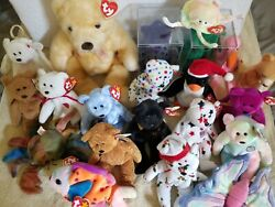 Ty Beanie Baby Collection - Diana Halo Claude Erin Curly + More Rare