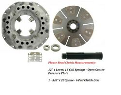 Clutch Kit Ford New Holland Tractor 5600, 5700, 6600 12 25 Spline 6 Pad Disc