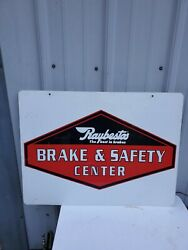 Raybestos Brake And Safety Center Two Sided Metal Sign 24 X 18