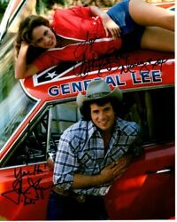Tom Wopat And Catherine Bach Signed The Dukes Of Hazzard Photo W/ Hologram Coa