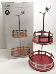 Alessi Alui Red And Silver Bird Spice Rack Modern Design By Miriam Mirri With Box
