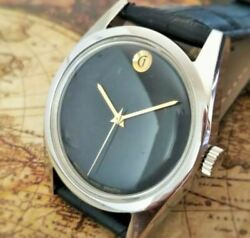 1970and039s Zenith Movado 2572c Black Dial Rare Menand039s Watch Shipped From Japan