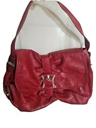 B Makowsky Bag Hobo Red Leather Buckle Extra Large Flap New no tag 11x16 $52.00