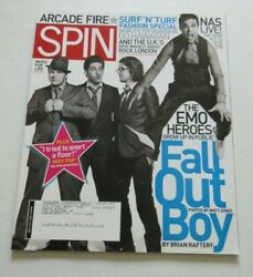 Spin Magazine Fall Out Boy Emo Heroes Pete Wentz Patrick Stump Arcade Fire 2007