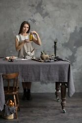Linen Tablecloth Soft Linen 100 Table Cloth Stonewashed Various Size Flax