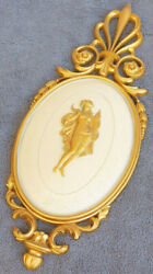 Nude Wall Relief Placque Cast in Resin Vintage Props Old MCM decor gilded hot IV