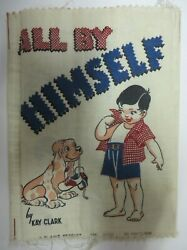 Vintage 1950 All By Himself Cloth Interactive Fabric Book Plakie Toys Quiet Book