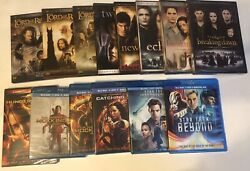 Mixed Lot 14 Blu Ray And Dvd Movies Fantasy Action Sci-fi Twilight Hunger Games