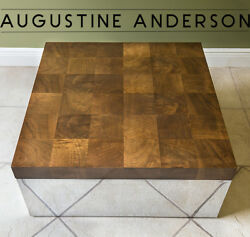 Stunning Vintage Signed Thayer Coggin -milo Baughman Coffee Table -mcm-can Ship