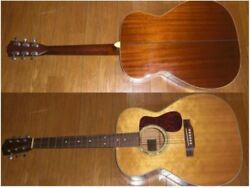 Rare Headway Hf-012 All Veneer Natural Acoustic Guitar Shipped From Japan