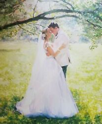 Commission Wedding Oil Portrait Painting From Photo Custom Art Wedding Gift