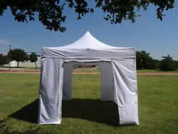 10and039x10and039 Polyester Pop Up Tent W Wheel Bag And Sand Bags And Solid Walls - Ds Model