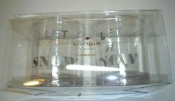Kate Spade New York Let It Snow Clear Acrylic Drinkware Set 2 New In Box