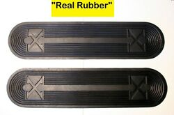 Henderson Deluxe And Kj Motorcycle Footboard Real Rubber Mat Set - Antique Repro