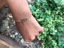Evil Eye Jewelry Bracelet For Good Luck Up-cycled Jewelry 18k Gold Plated Silver