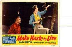 Make Haste To Live 1954 Original Release Lobby Card Dorothy Mcguire +++++