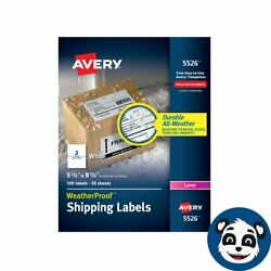 Lot 03 - Avery Weatherproof Mailing Labels With Trueblock -100 Labels /50 Sheets