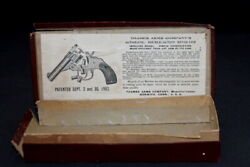 Antique 1902 Thames Arms Company Automatic Double Action Revolver Empty Box