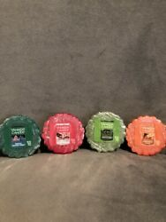 Yankee Candle Wax Tarts NEW amp; SEALED Lot Of 4 Holiday Scents