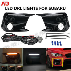 Led Sequential Turn Signal Lamp Daytime Running Light For Subaru Wrx 2018- 2020