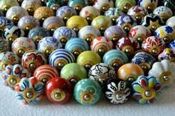 150 Pc Assorted Multicolor Ceramic Knobs Kitchen Cabinet Drawer Knobs Hardware