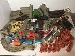 Huge 160+ Piece Thomas And Friends Lot -tracks And Trains And More