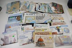 Huge Lot Of 150+ National Geographic Maps 1952-2000 Europe America West Indies