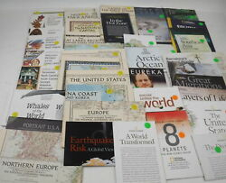 Huge Lot Of 130+ National Geographic Maps America Europe China Arctic Ocean