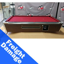 Valley 101 Coin Op Panther Pool Table - Burgundy Cloth - Freight Damaged