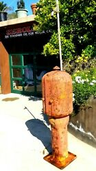 Rare Antique Gilbert And Barker Curbside Pre Visible Gas Pump Model T8 Farm