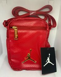 Nike Air Jordan Premium Leather Red Nike Shoulder Crossbody Bag New $35.00