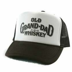 Old Grand-dad Whiskey Hat Trucker Hat Mesh Hat Snap Back Hat Brown