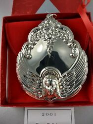 2001 Wallace Angel Sterling Silver Christmas Ornament, New, Mint W/box,bag