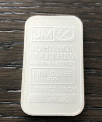 1one Troy Ounce .999 Fine Silver Johnson Matthey Barsecondary Market One Bar