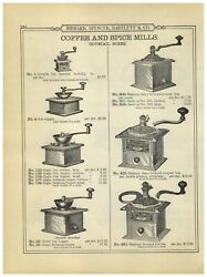 1899 Paper Ad 3 Pg Coffee Mill Wood Box Grinder Waddeland039s Imperial Parkerand039s Royal