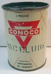 Vintage Conoco Race Lube Can-continental Oil-one Pound-empty