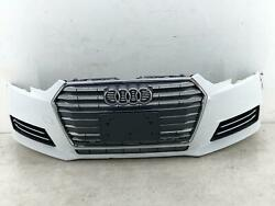 2017-2019 Audi A4 Front Bumper Cover W/o Park Assist Ibis White Ly9c Oem 2018