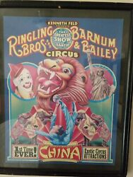 1986 Ringling Bros And Barnum And Bailey W/ People's Republic China Circus Poster