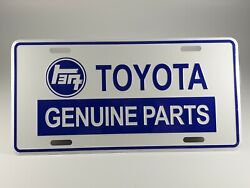 For Toyota Auto License Plate - Embossed Logo And Genuine Parts Blue
