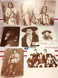 Lot Of 8 Old West Collectors Series Postcards Butch Cassidy Geronimo
