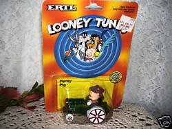 Looney Tunes Porky Pig On Farm Tractor By Ertl 1989 Mip